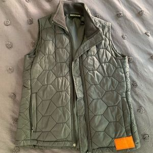 DKNY black quilted vest